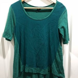 Women's Anthropologie Left of Center Hi-Low Shirt